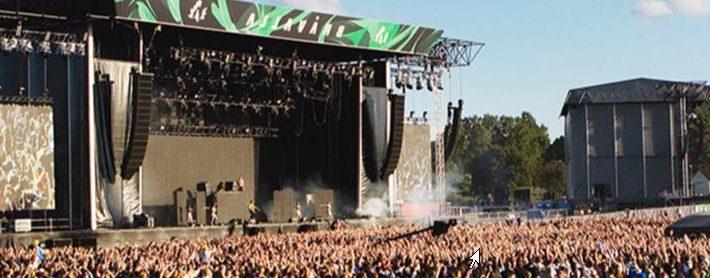 La grande scène du festival Bravalla en Suède