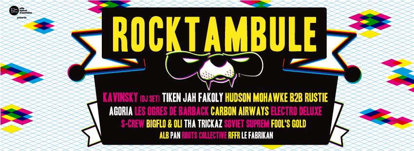Affiche des 20 ans du festival Rocktambule